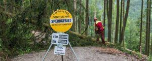 Forstliche Sperrgebiete sorgen für mehr Sicherheit