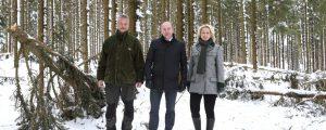 Land OÖ unterstützt Bauern bei Schneedruck-Schäden