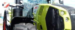 Traktordemo vor Spar-Lager in Marchtrenk