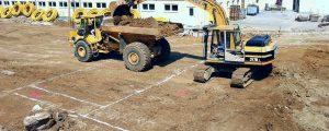 Beton und Bagger bedrängen unsern Acker