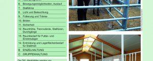 ÖKL-Merkblatt über Pferdeställe neu aufgelegt