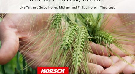 Horsch Live – drei Tage lang Info-Nachschub