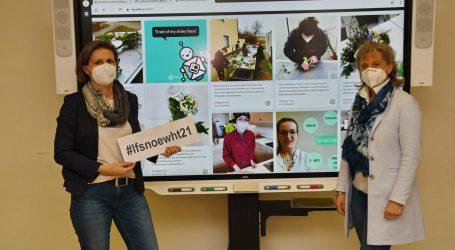 Auf Social Media Wall wird Hauswirtschaft zelebriert