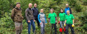 Projektwoche zum Schutz von Bergwald