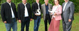 Drohne an LFS Hollabrunn im Einsatz